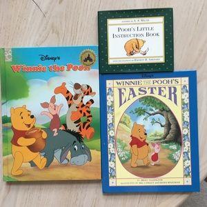 Trio of Winnie the Pooh children's books